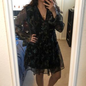 Target Who What Wear Floral Dress w/ Ruffle Sleeve